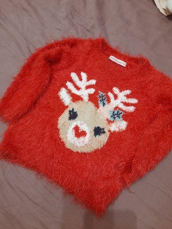 Sweterek świąteczny roz.74