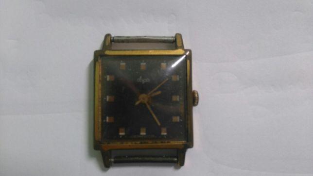 Мужские часы квадратные часы ЛУЧ СССР