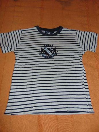 T'shirt Metro Kids riscas 8 anos + T'shirt River Hoods Laranja 8 anos