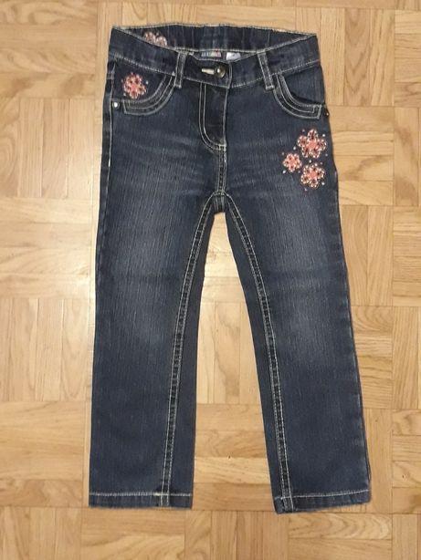Dziewczęce spodnie jeansy rozm. 98