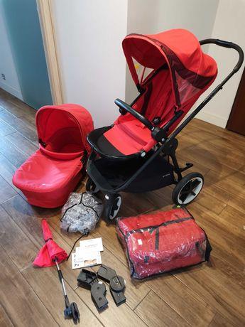 Wózek czerwony Cybex Balios M 2w1 gondola i spacerówka śpiworek gratis