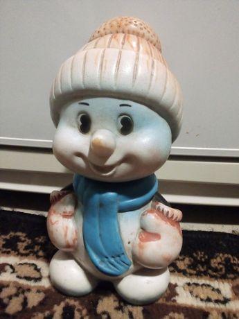 Резиновая игрушка - снеговичок СССР