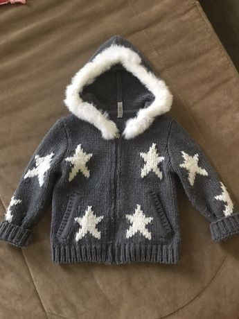 Кофта теплая вязанная для девочки To Be To,  кофта next, свитер next