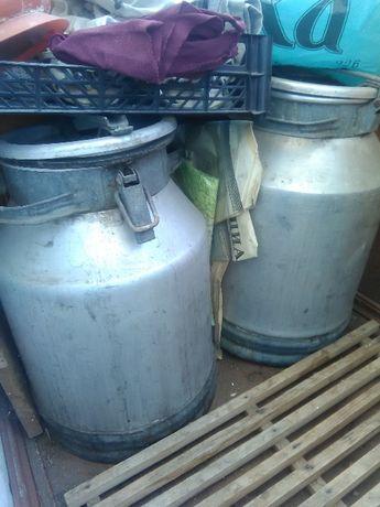 Бидон молочный алюминиевый 40 литров 2 штуки