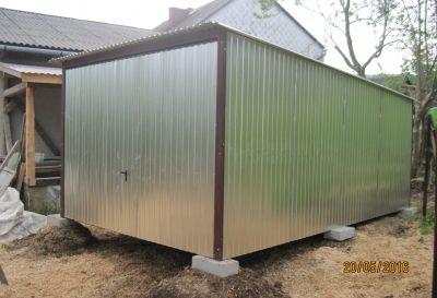 Garaż mobilny blaszany 3x5 blaszak - transport oraz montaż