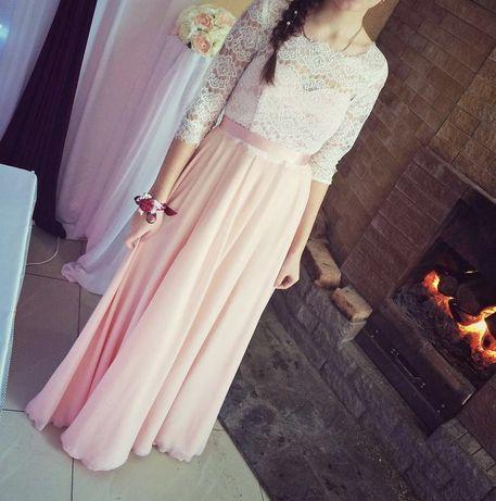 Платье розовое вечернее