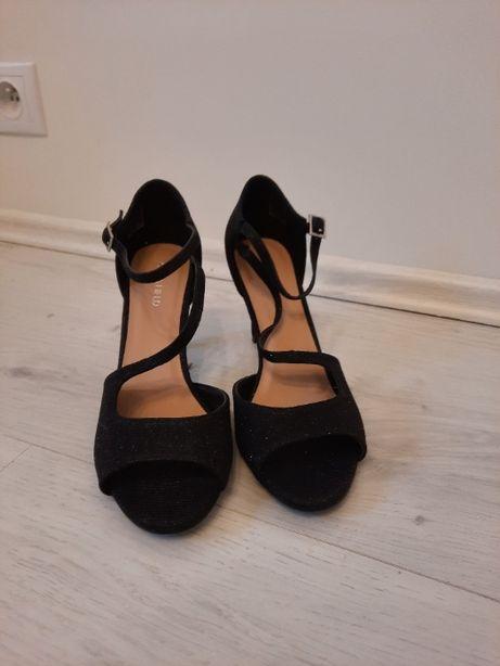 anna field sandały na obcasie czarne 39 szpilki buty damskie