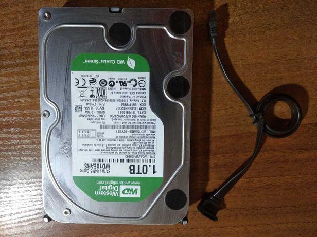 Жесткий диск Western Digital WD10EARS-00Y5B1 1TB  1ТБ SATA кабель