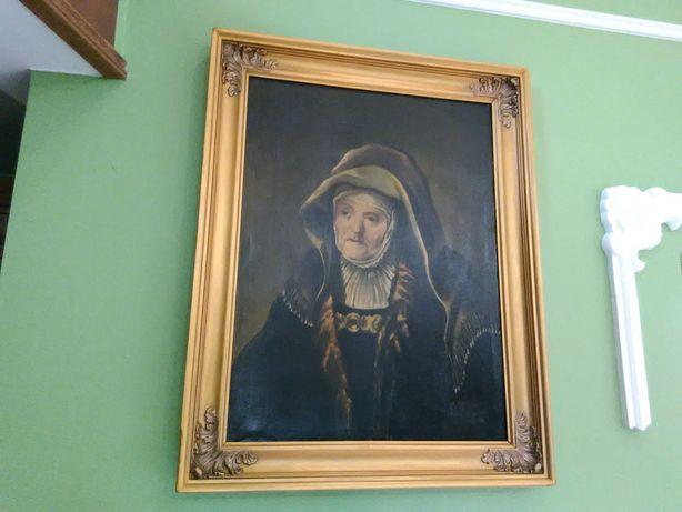 Obraz Olejny-Portret Matki Rembrandt Płótno 95x75