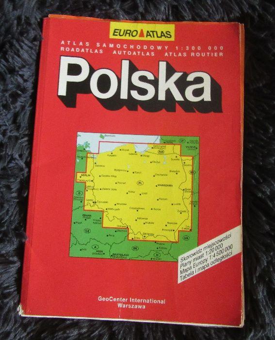 Euro Atlas Polska Atlas samochodowy 1:300000 Plany miast Mapa PL EU Kraśnik - image 1