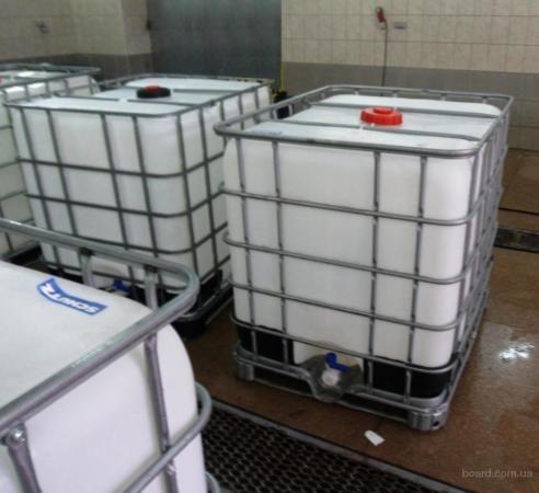 Кубовая бочка (еврокуб) для воды,топлива, химии в отл. состоян.