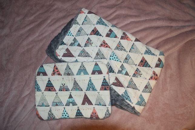 Amaloo zestaw kocyk + poduszka dla niemowlaka tipi