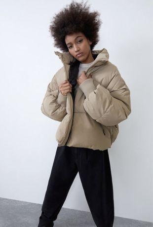 Трендовая куртка, пуффер , пуховик Zara xs , оверсайз!