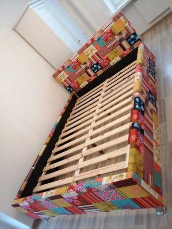 Łóżko rama 140x200 patchwork niemieckie NOWE