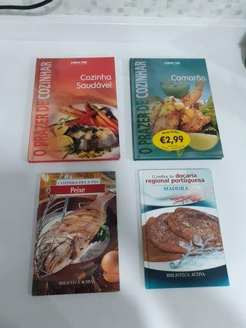 culinária : conj. 4 livros por 5€