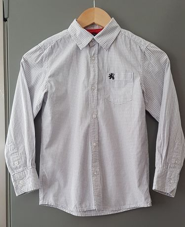 Elegancka koszula w kratę 5.10.15 dla chłopca r.128