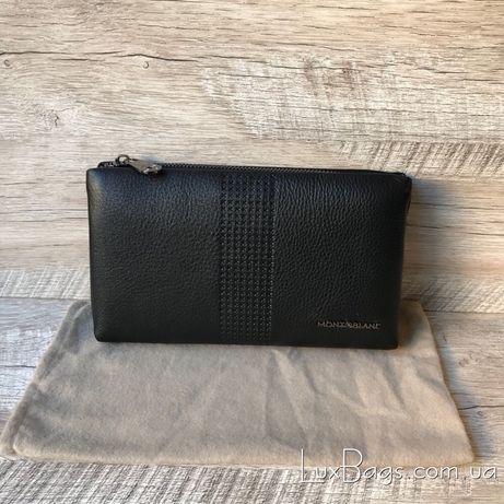 Мужской кожаный клатч кошелек Mont Blanc Портмоне