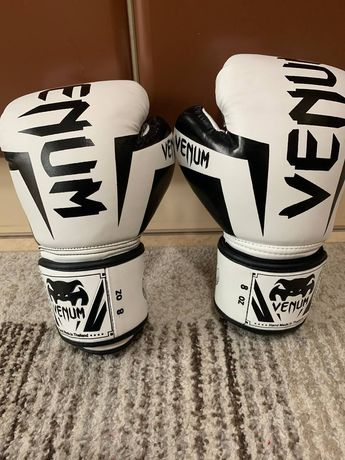 Перчатки боксерские PU на липучке VENUM 8 унций