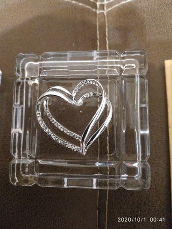 Шкатулка для обручальних колец  свадьба весільна стеклянная Италия