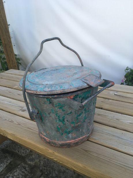 balde vintage zincado