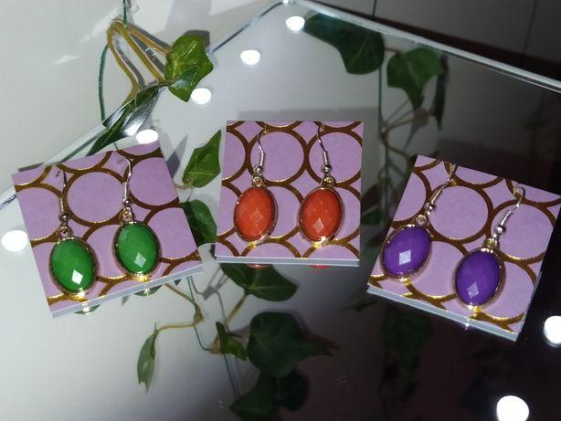 Kolczyki wiszące- trzy kolory