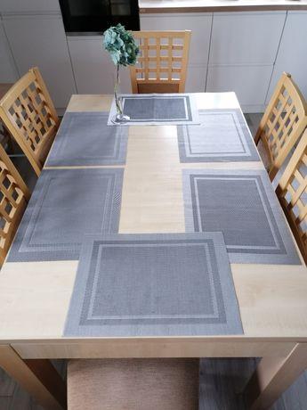 Stół i 6 krzeseł+deska do powiększenia stołu