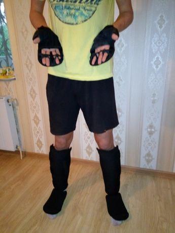 Оборудования для Кикбоксинг защита и перчатки с натуральной кожи для н