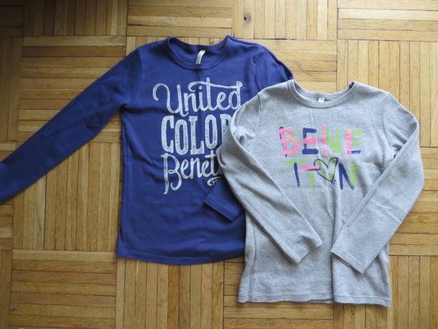 Dwie bluzki dla dziewczynki Benetton rozm 120 cm