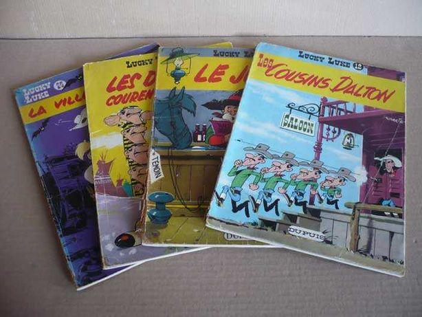 Livros antigos do Lucky Luke em francês