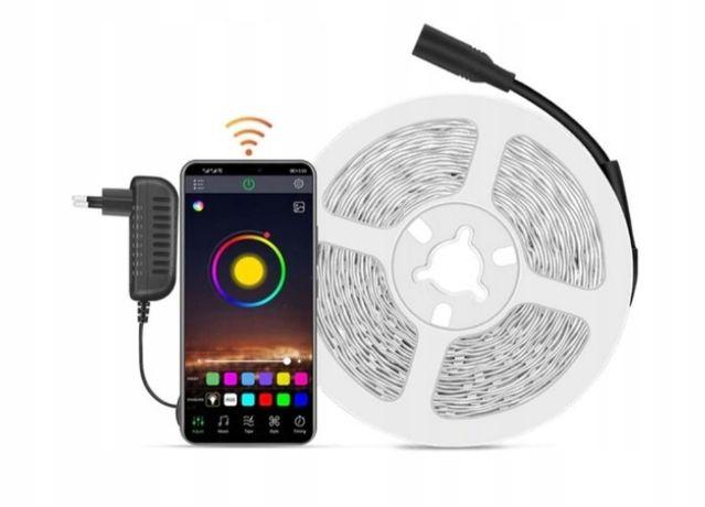 Taśma LED SMD 5M RGB Kolorowa+ Aplikacja NA BT