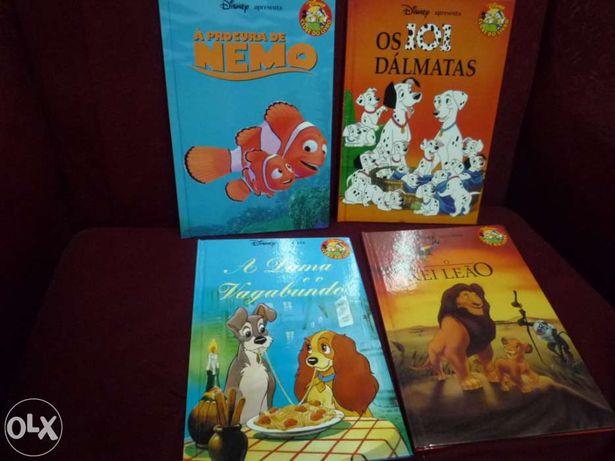 Livro Nemo,Os 101 dalmatas,O rei leao e A dama e o vagabundo