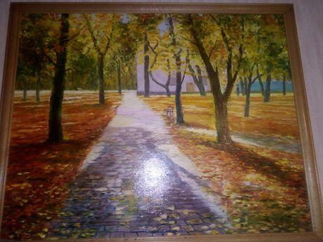 Картина маслом - парк Репина