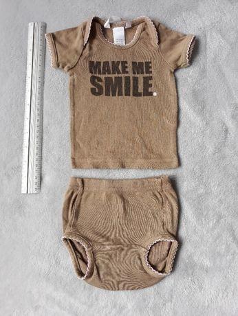 Bluzeczka noworodkowa i majteczki na pieluszkę rozmiar 50 firmy H&M