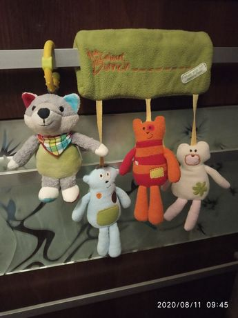 Подвесные игрушки-погремушки,подвески на коляску,кроватку,дугу,манеж