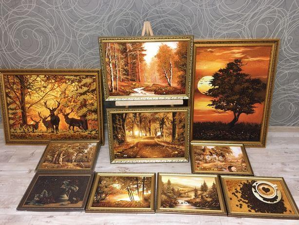 Иконы из янтаря ТАЙНАЯ ВЕЧЕРЯ картины(Портрет,ікони)КАРТИНИ З БУРШТИНУ
