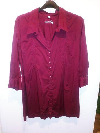 Bordowa tunika, koszula r. 50 52 54
