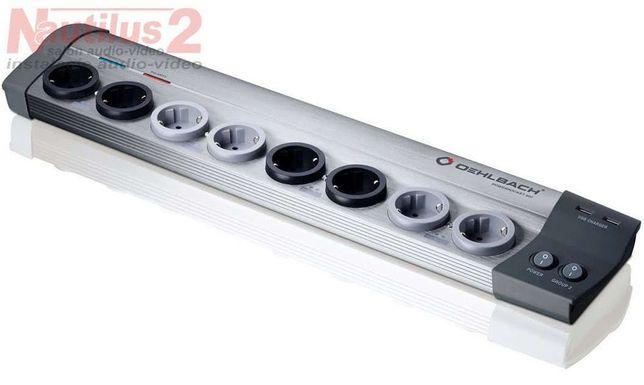 Oehlbach Powersocket 907 listwa zasilająca, filtr 8 gniazd, 2 USB