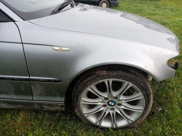 BMW e46 błotnik prawy silbergrau metallic
