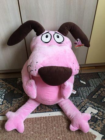 Собака cowardly dog собачка пес щенок игрушка мягкая мультик 41 см