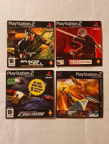 Conjunto 4 Demos Playstation 2 ps2 consola demo #1