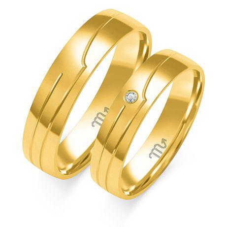 Nataliebizu Złote Obrączki Ślubne z Diamentami