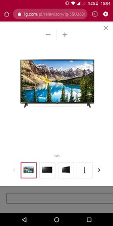 LG 55 cali 4K UHD Smart Tv
