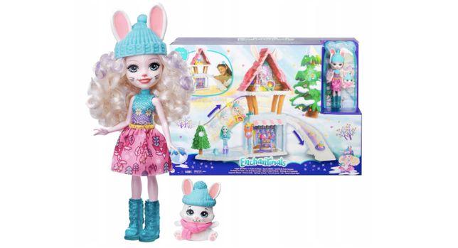 ЭнчантималсЛыжный шале дом зимнего кролика Hoppin Ski Chalet with Be