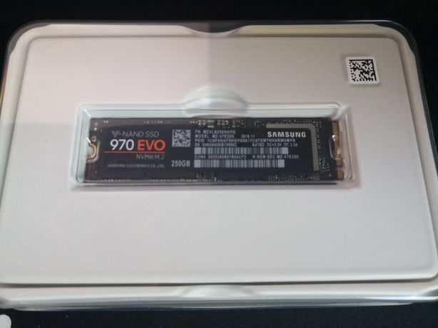 Dysk M.2 Nvme Samsung 970 evo 250 gb Idealny