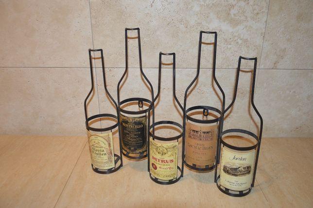 Stylowy, kolekcjonerski stojak na wina. Metalowy. STAN IDEALNY.