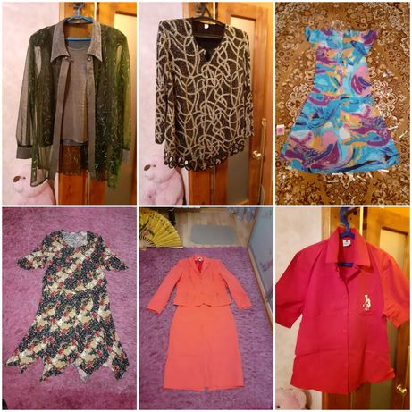 Костюм блузка юбка рубашка халат весна лето  размер 54-56