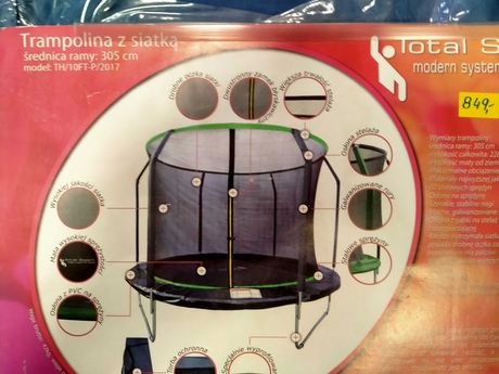 Zabawka trampolina o srednicy 305 cm