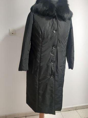 Pikowany płaszcz zimowy rozmiarXXL kaptur futerkiem  GETEX EXCLUSIVE