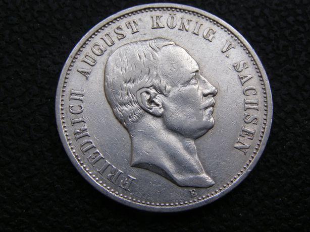 3 марки 1909г Е Саксония. Фридрих Август.