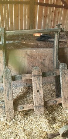 """Sanie konne """"pieski"""" dębowe małe 113 x 130 cm"""